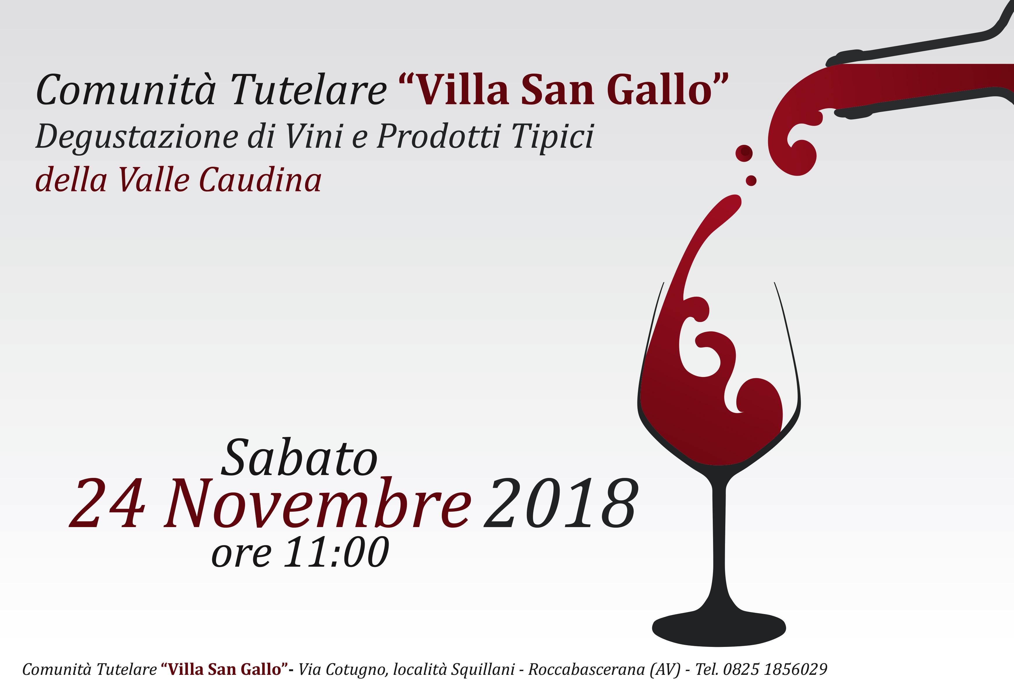 Degustazione di Vini e Prodotti Tipici della Valle Caudina