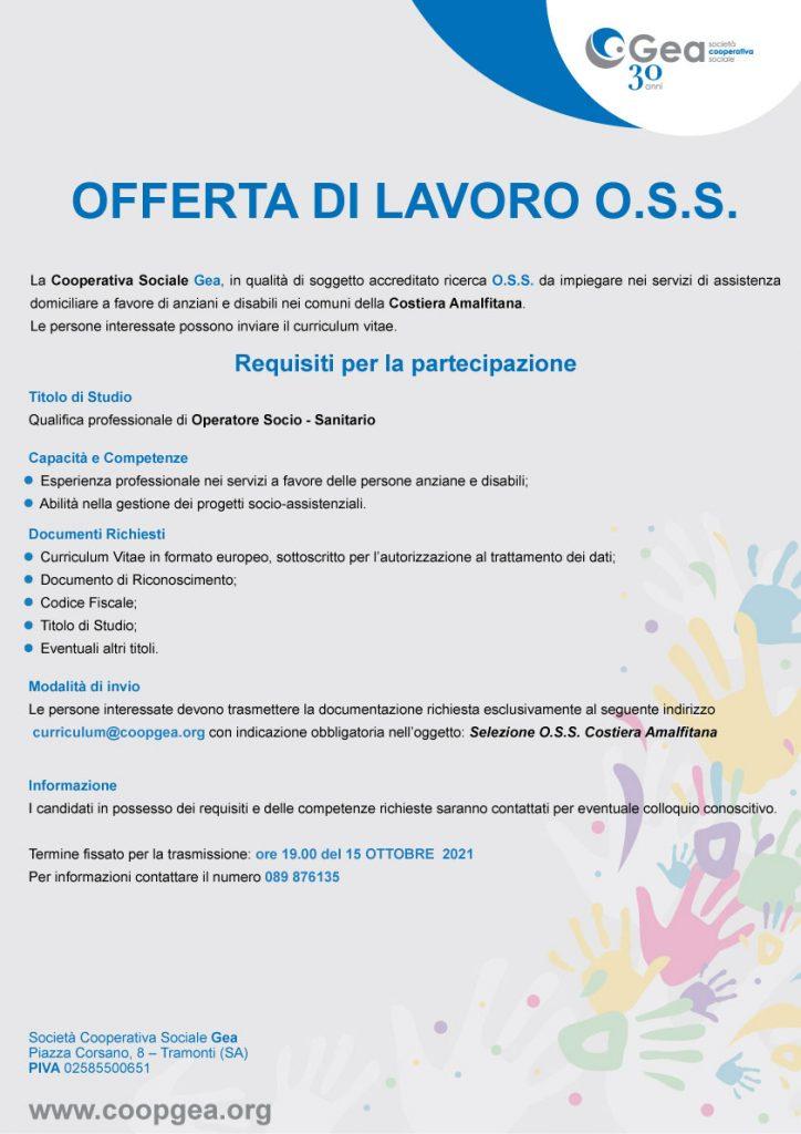 OFFERTA DI LAVORO O.S.S.